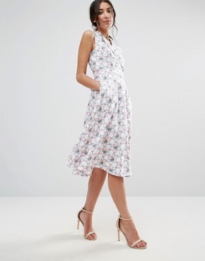 photo Printed Midi Shirt Dress by Traffic People, color  - Image 1