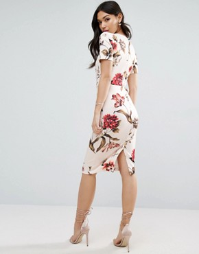 photo Floral T-Shirt Midi Dress by ASOS, color  - Image 2