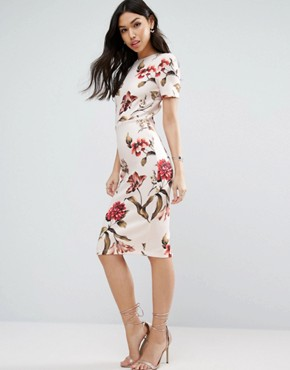 photo Floral T-Shirt Midi Dress by ASOS, color  - Image 1
