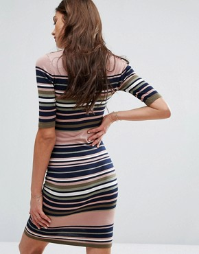photo Stripe Knit Dress by Y.A.S, color  - Image 2