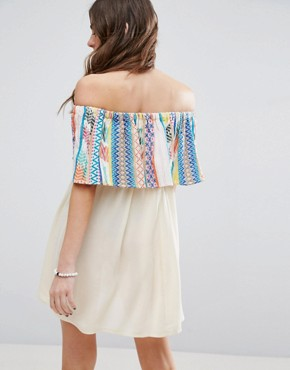 photo Aztec Stripe Frill Beach Dress by ASOS, color  - Image 2