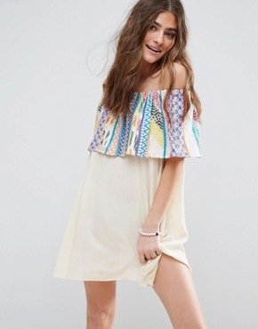 photo Aztec Stripe Frill Beach Dress by ASOS, color  - Image 1