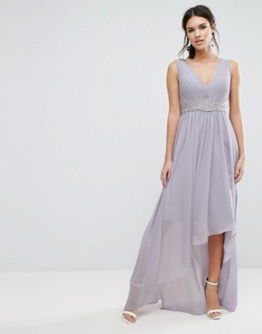 photo Andra Lilac Lace-Up Dress by Y.A.S, color Purple - Image 4