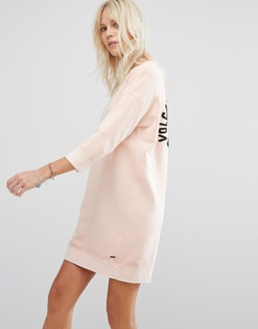 photo Pink Sweatshirt Dress by Maison Scotch, color Rose White - Image 2
