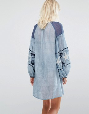 photo Chambray Dress by Maison Scotch, color Indigo - Image 2