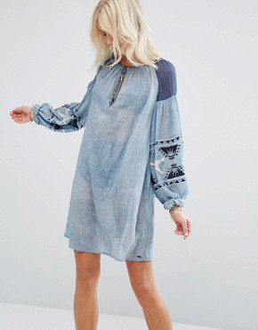 photo Chambray Dress by Maison Scotch, color Indigo - Image 1