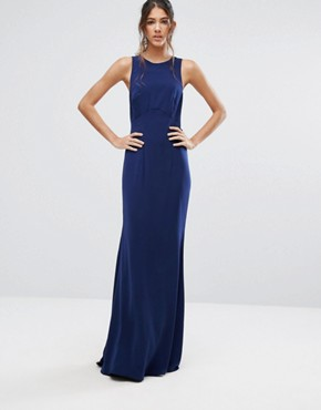 photo Maxi Dress with Bow Tie Back by Jarlo Tall, color Navy - Image 2