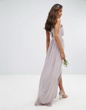 photo Maxi Dress with Embellishment by TFNC Tall Wedding, color Grey - Image 2