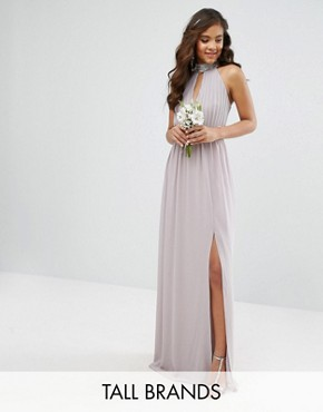 photo Maxi Dress with Embellishment by TFNC Tall Wedding, color Grey - Image 1