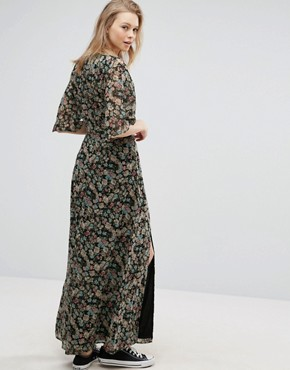 photo Maxi Dress with Split Front by Influence Tall, color  - Image 2