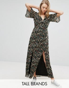photo Maxi Dress with Split Front by Influence Tall, color  - Image 1