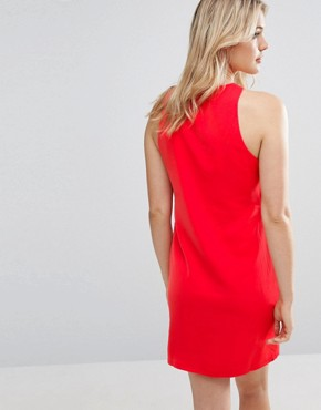 photo Button Front Dress by Neon Rose, color Red - Image 2