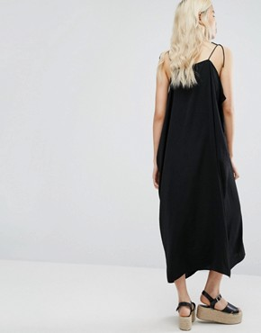 photo Strap Cami Dress by Weekday, color Black - Image 2