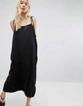 photo Strap Cami Dress by Weekday, color Black - Image 1