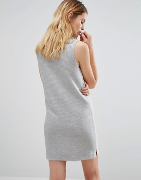 photo Rib Effect Knitted Dress by Native Youth, color Grey - Image 2