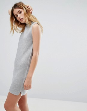 photo Rib Effect Knitted Dress by Native Youth, color Grey - Image 1