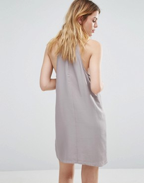 photo High Neck Swing Dress by Native Youth, color Grey - Image 2
