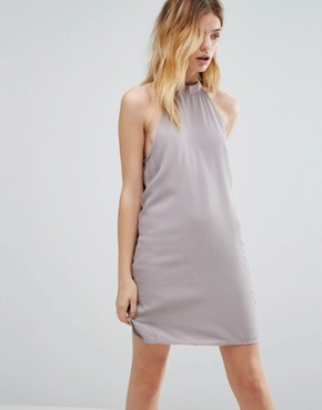photo High Neck Swing Dress by Native Youth, color Grey - Image 1