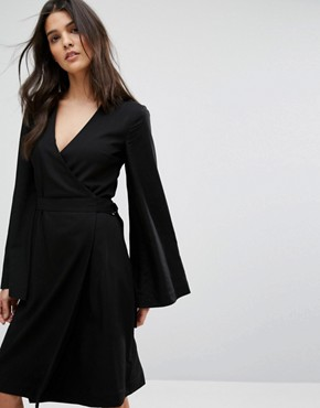 photo Wrap Around Dress by House of Sunny, color Black - Image 1