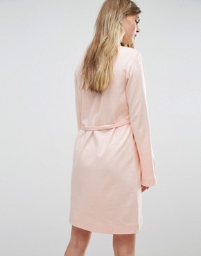 photo Extra Long Sleeved Dress with Tie Waist by House of Sunny, color Pastel Pink - Image 2