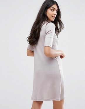 photo Sheila High Neck Drop Waist Dress by Y.A.S Tall, color Grey - Image 2