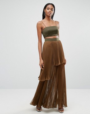 photo 2 In 1 Maxi Dress with Pleated Skirt by AQ/AQ, color  - Image 1