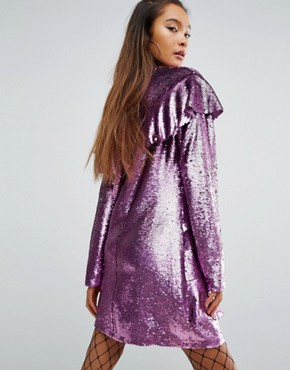 photo Sequin Dress with Frills by Mad But Magic, color Pink - Image 2