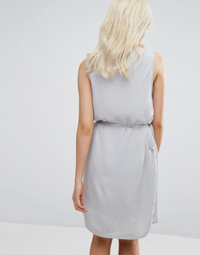 photo Belted Drawstring Dress by Vila, color Cream - Image 2