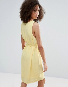 photo Belted Drawstring Dress by Vila, color Pale Yellow - Image 2