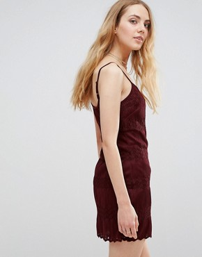 photo Knitted Cami Dress by Band of Gypsies, color Red Wine - Image 2