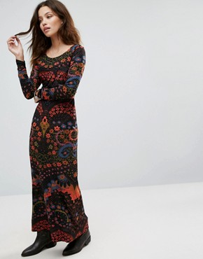 photo Far Out Knit Dress by Free People, color Black Combo - Image 1
