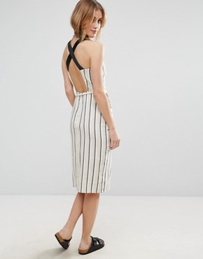 photo Sundress in Stripe with Contrast Straps and Rope Belt by ASOS, color  - Image 2