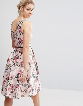 photo Blossom Jacquard Dress with V-Back by Ted Baker, color Pink - Image 1