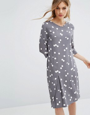 photo Polka Dot Dress by Selected, color Smoked Pearl - Image 1