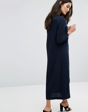 photo Knit Midi Dress by Selected, color Dark Sapphire - Image 2