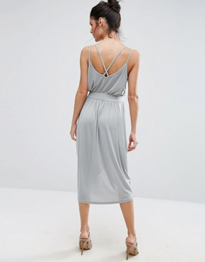photo Wrap Front Cami Dress by Vero Moda, color Pearl Blue - Image 2