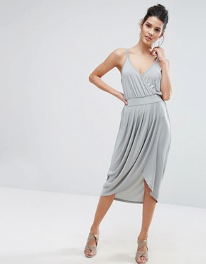 photo Wrap Front Cami Dress by Vero Moda, color Pearl Blue - Image 1