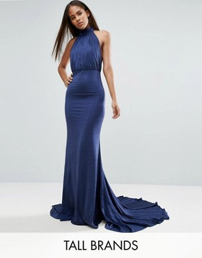 photo Maxi Dress with Open Back by City Goddess Tall, color Navy - Image 1