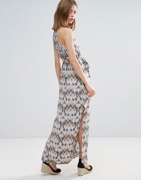 photo Belted Graphic Print Maxi Dress by Vero Moda, color Henn Print Ash - Image 2