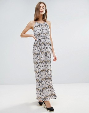 photo Belted Graphic Print Maxi Dress by Vero Moda, color Henn Print Ash - Image 1