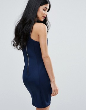 photo Tunic Dress With Removable Necklace by Zibi London, color Navy - Image 2