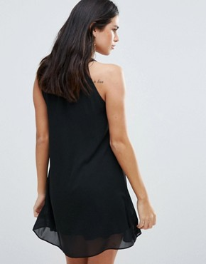 photo Shift Dress with Lace Insert by Zibi London, color Black - Image 2