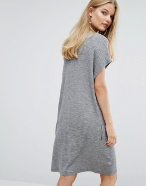 photo Janina Dress by Samsoe & Samsoe, color Grey Melange - Image 2