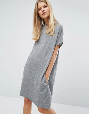 photo Janina Dress by Samsoe & Samsoe, color Grey Melange - Image 1