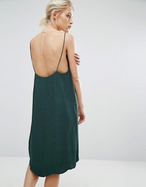 photo Slip Dress by Samsoe & Samsoe, color Darkest Spruce - Image 2