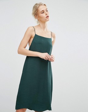 photo Slip Dress by Samsoe & Samsoe, color Darkest Spruce - Image 1