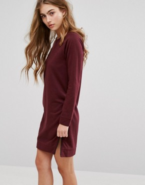 photo Zip Side Sweater Dress by Lee, color Plum - Image 1