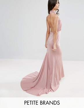 photo Maxi Dress with Open Back by City Goddess Petite, color Rose - Image 1