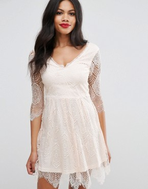 photo Lacey Skater Dress by Girls on Film, color Nude - Image 1