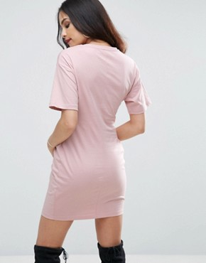 photo Corset Detail T-Shirt Dress by ASOS, color Nude - Image 2